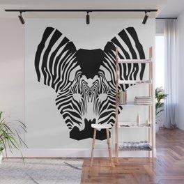 Zebra kiss Wall Mural