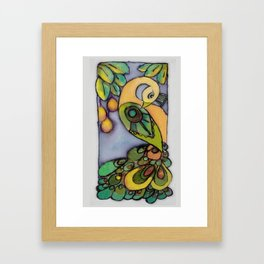 Mango Peacock Framed Art Print
