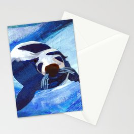 Swimming Seal Stationery Cards