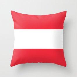 Flag of Austria - Austrian Flag Throw Pillow