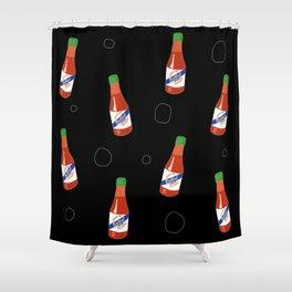 Crystal Hot Sauce Shower Curtain
