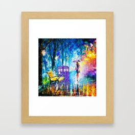 Little Tardis With The Girl Framed Art Print