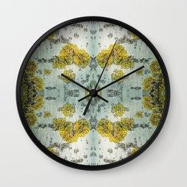 Aspen bark texture pattern Wall Clock