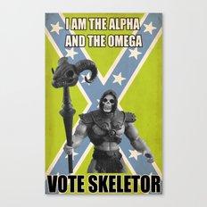 Vote Skeletor Canvas Print