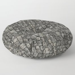 Ancient Stone Wall Pattern Floor Pillow