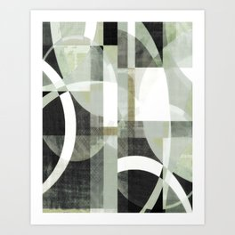 sage green art, sage green, boho art, mid century modern, geometric art, geometric print, abstract Art Print
