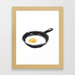 Egg in a Frying Pan Framed Art Print