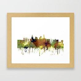 Las Vegas Skyline - Safari Buff Framed Art Print