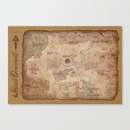 Map of Hyrule- Legend of Zelda Canvas Print