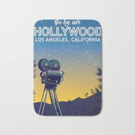 Hollywood, Los Angeles,California travel poster Bath Mat