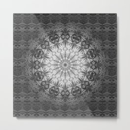 Gothic Lace Mandala Metal Print