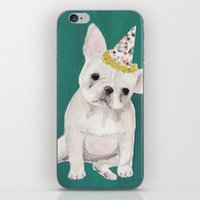 puppies iPhone & iPod Skins featuring Party puppies  by Jackie Diedam