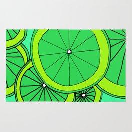 Summer Limes Citrus Art Rug