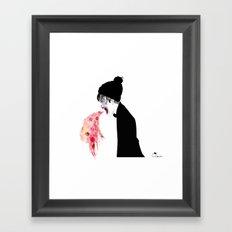 Jealousy Snaking Up Again Framed Art Print