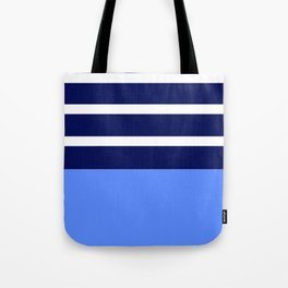 Summer Patio Perfect, Blue, White & Navy Tote Bag