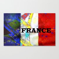 france Canvas Prints featuring FRANCE by Brian Raggatt