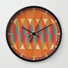 Wavy color stripe Wall Clock
