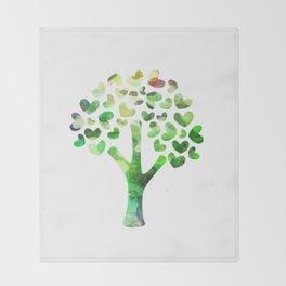 tree of hearts Throw Blanket