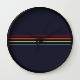 Polychrome Retro Stripes Wall Clock