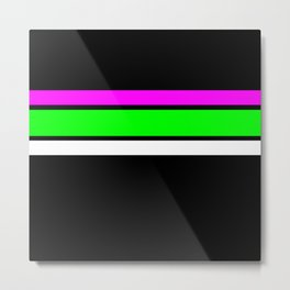 Team Colors....neon greenand pink stripes Metal Print
