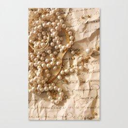 Romantic Letter Canvas Print