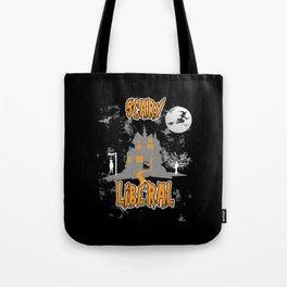 Halloween Creepy Witch Cat Full Moon Orange Tote Bag