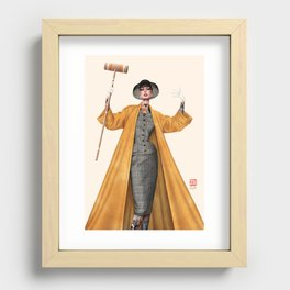 Croquet and Ink Eight Recessed Framed Print