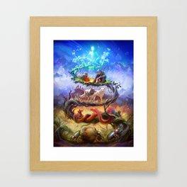 The Karmic Ladder, by Lane Brown Framed Art Print