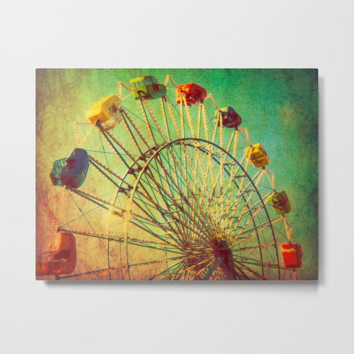 The Unbearable Elation of Summer carnival ferris wheel  Metal Print