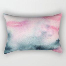 When indigo meets pink || watercolor Rectangular Pillow