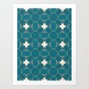 Ethnic pattern in blue by absentisdesigns