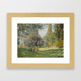 Landscape: The Parc Monceau Framed Art Print