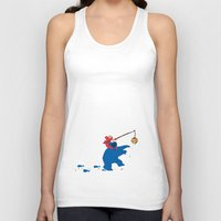 elmo Tank Tops featuring Cookie Monster Donkey - Larger Placement by OneWeirdDude