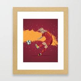 Radja Nainggolan Roma Framed Art Print