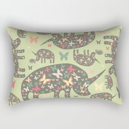 Rhinos Pattern Rectangular Pillow