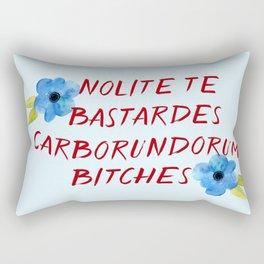 Nolite te bastardes carborundorum -- donation Rectangular Pillow
