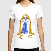 tim burton T-shirts featuring Tangled- Tim Burton Style by AndriBelieve