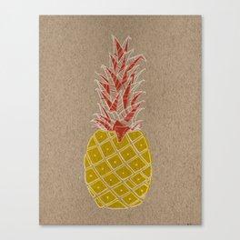 Reverse pineapple Canvas Print