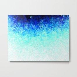 Aqua Spots Metal Print