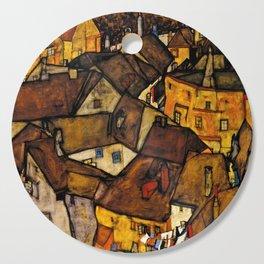 "Egon Schiele ""Krumau - Crescent of Houses (The small City V)"" Cutting Board"