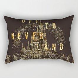 Off to Neverland Rectangular Pillow