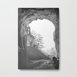 French Chapel carved in stone in caves of la Balme Metal Print