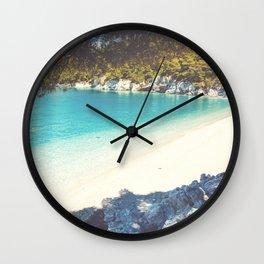 Exotic beach No1 Wall Clock
