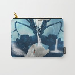 Beautiful white swan Carry-All Pouch