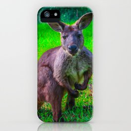 Tough guy Kangaroo iPhone Case