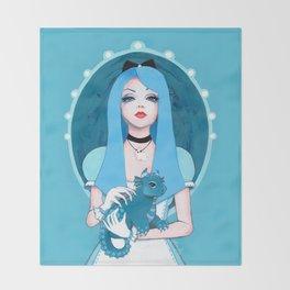 Alice Wore Blue Throw Blanket