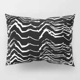 Dark Glitch Abstract Pattern Pillow Sham