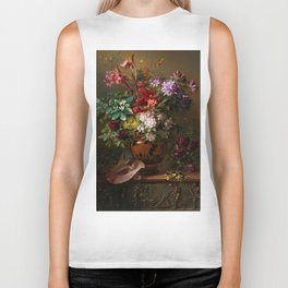 "George Jacobus Johannes van Os ""Still Life with Flowers in a Greek Vase Allegory of Spring"" Biker Tank"