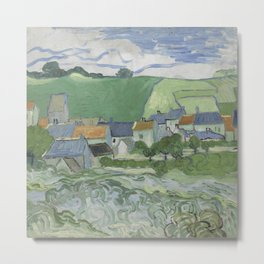 View of Auvers Metal Print