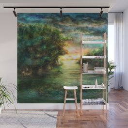 Sunset painting 1 Wall Mural